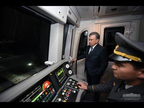 Шавкат Мирзиёев Тошкентдаги янги метро бекатининг илк йўловчиси бўлди