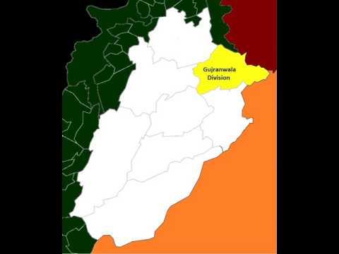 Map of post-2008 Gujranwala Division