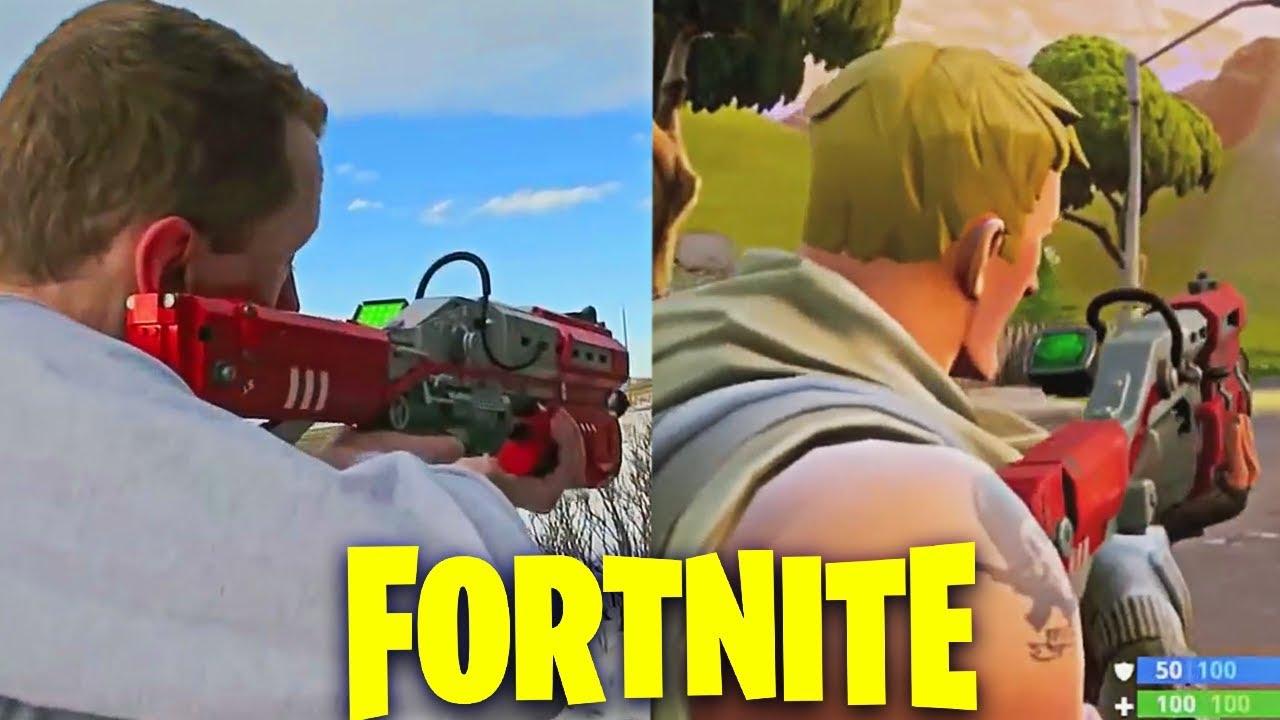 Pistola Bazuca De Fortnite Armas De Fortnite En La Vida Real Youtube
