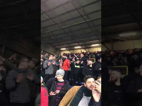 Newcastle fans 10 minutes after beating Burnley at Turf Moor last night. ⚫️⚪️