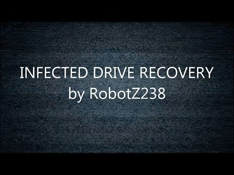 How to create Infected/Hidden Drive Recovery using C#
