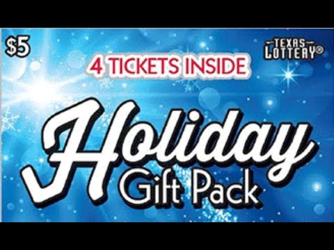 FULL PACK! BRAND NEW! $5 HOLIDAY GIFT PACK! TEXAS LOTTERY SCRATCH OFF TICKETS