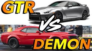 Dodge Demon vs Nissan GTR