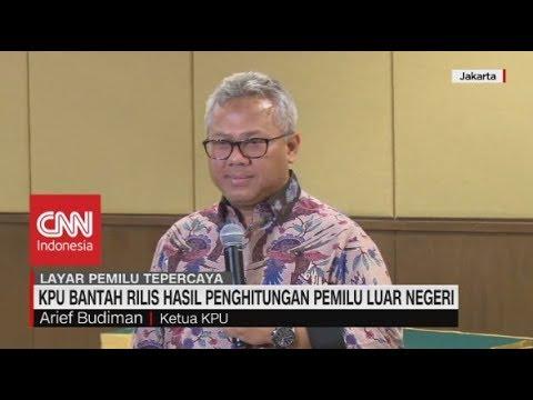 KPU Bantah Rilis Hasil Perhitungan Pemilu Luar Negeri