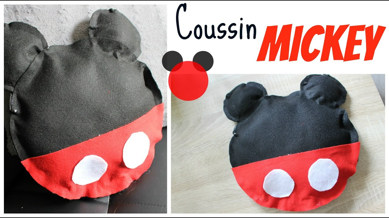 coussin mickey DIY : Coussin Mickey sans couture / Mickey Mouse Pillow no sew  coussin mickey