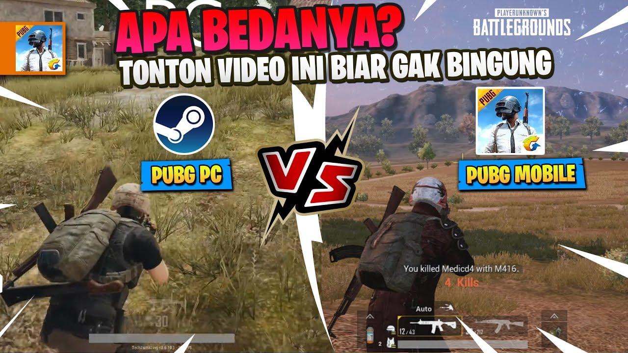 Perbandingan PUBG PC vs PUBG Mobile - APA BEDANYA ? - YouTube
