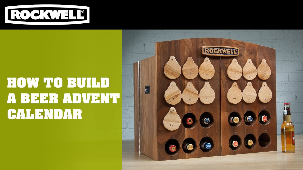 how to build a beer advent calendar rockwell tools youtube