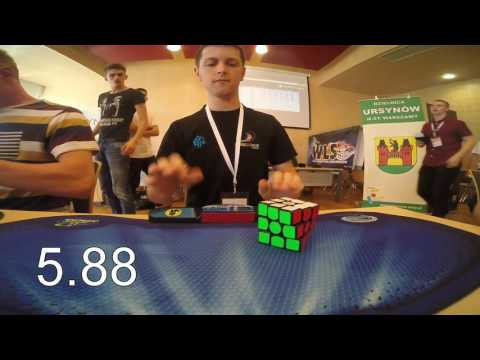 Rubik's cube world record average: 6.45 seconds