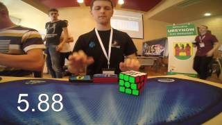 Rubik's cube world record average: 6.45 seconds