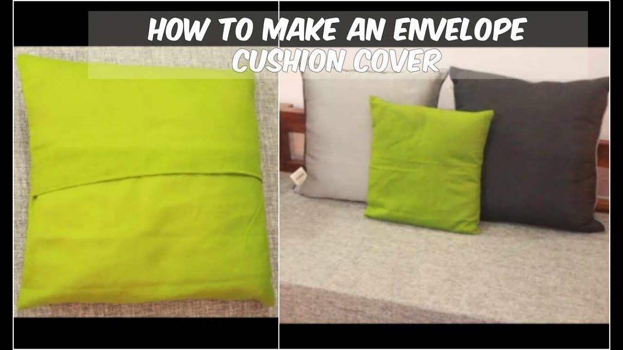 easy envelope cushion cover making diy cushion cover