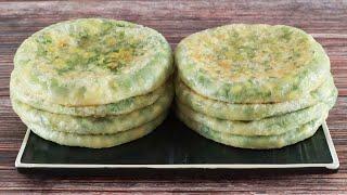 韭菜馅饼5分钟出锅,按一按压一压,不破皮不露馅,个个鲜美!【海娟美食】