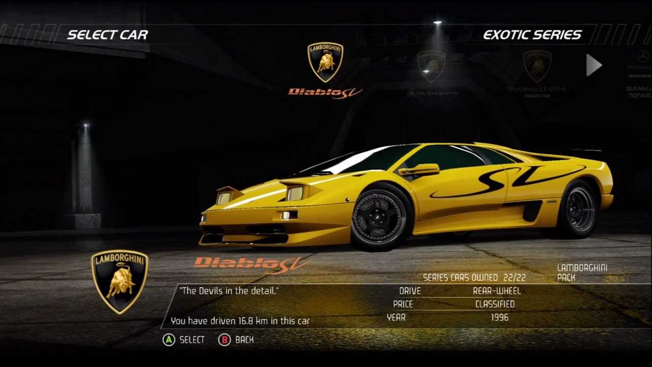 Nfs Carbon Cars Wallpaper Nfs Hp Racer Exotic Series Lamborghini Diablo Sv Hd Youtube