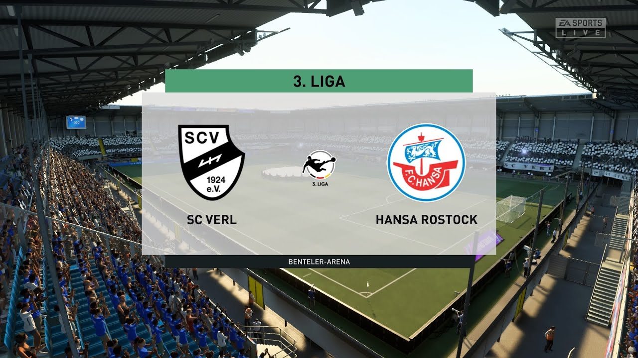 Fifa 21 Sc Verl Vs Hansa Rostock Germany 3 Liga 10 10 2020 1080p 60fps Youtube