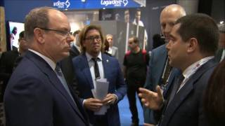 Riccardo Silva and Prince Albert of Monaco at Sportel