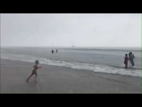 Holy Moly! Bizarre microburst of rain pelts Santa Barbara beach