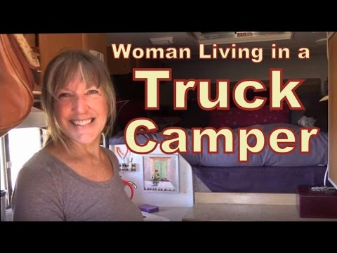 Shadow Cruiser Rv >> Fearless Retired Woman Living in a Lance Truck Camper - YouTube
