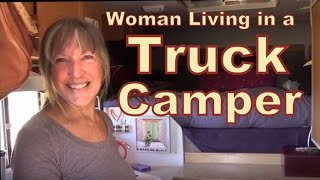 Repeat youtube video Fearless Retired Woman Living in a Lance Truck Camper