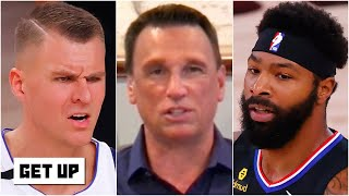 Reacting to Kristaps Porzingis being ejected after rift with Marcus Morris | Get Up