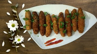 Try to make veg bullets at home | Tea time snacks | crispy vegetable bullets at home