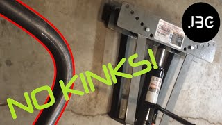 PERFECT BENDS! with harbor freight pipe bender.