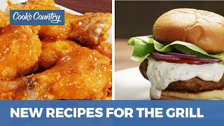 How to Make Chicken Wings and Pork Burgers on the Grill