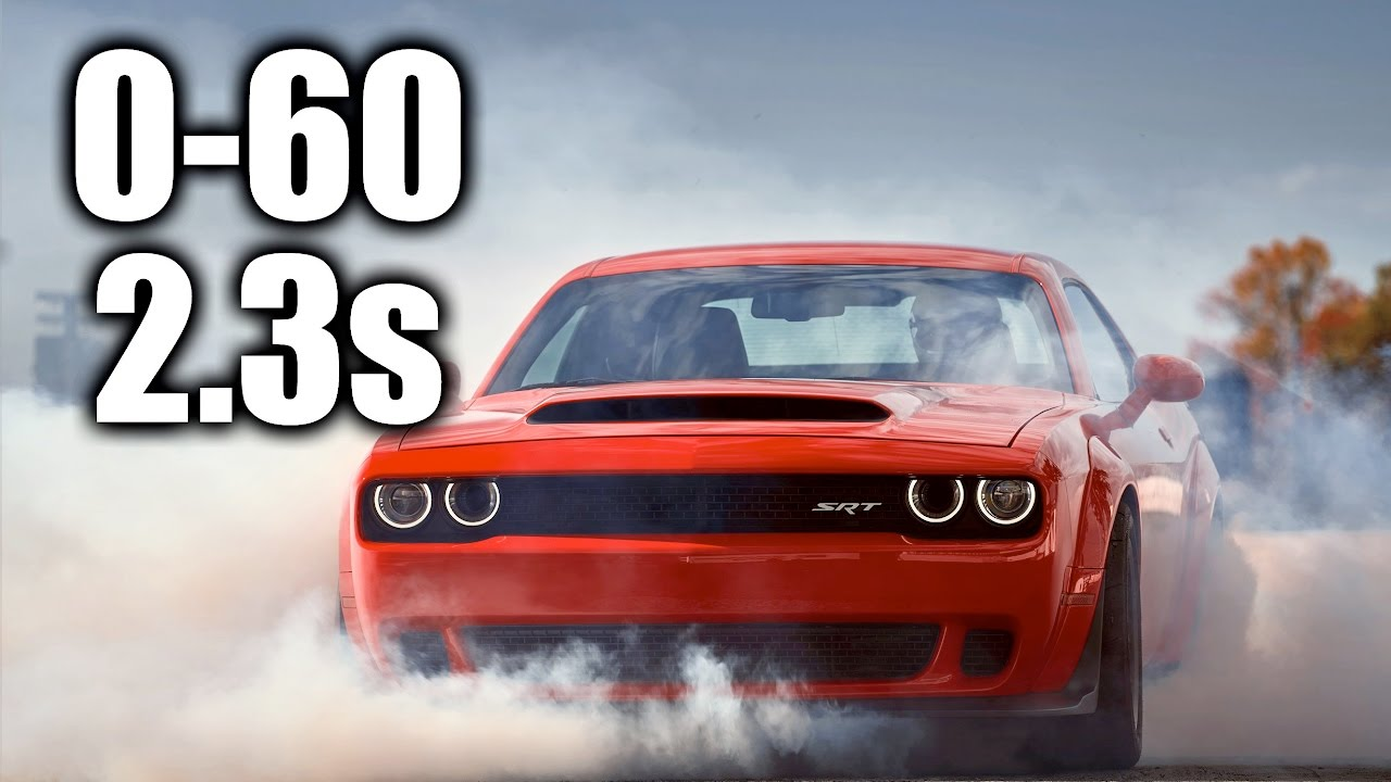 Dodge 0 60 >> Here S Exactly How The Dodge Challenger Srt Demon Hits 0 60