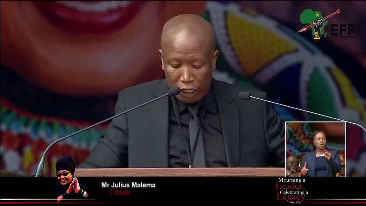 Winnie Mandela's funeral - CIC Julius Malema (EFF) Full Speech is #FIRE!