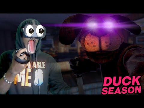 IT'S OUTSIDE MY HOUSE...WITH A KNIFE | Duck Season VR Oculus Rift #2 VERY BAD & BEST MEN ENDING