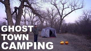 Camping In Abandoned Ghost Town Campground - Halloween Special