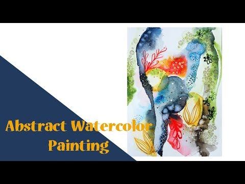 Abstract Watercolor Painting – to use in your Art Journal