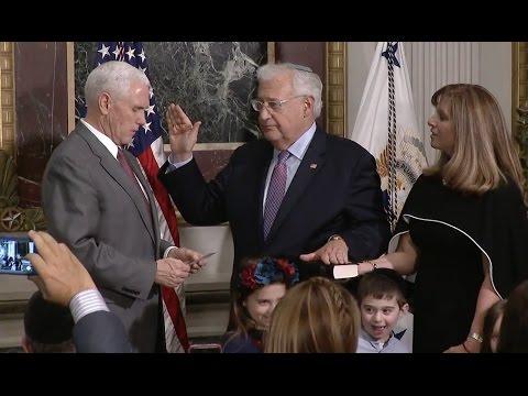 New U S  Ambassador To Israel David Friedman Sworn In - Full Ceremony, Speeches