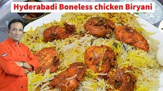 Hyderabadi Boneless Chicken Biryani -  Biryani With Chicken Stock Special VIP Chicken 65 Biryani