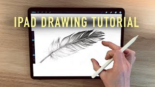 IPad Drawing tutorial - HOW TO DRAW A FEATHER