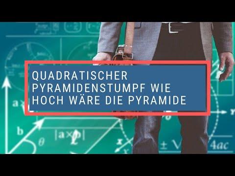 quadratischer pyramidenstumpf wie hoch w re die pyramide youtube. Black Bedroom Furniture Sets. Home Design Ideas