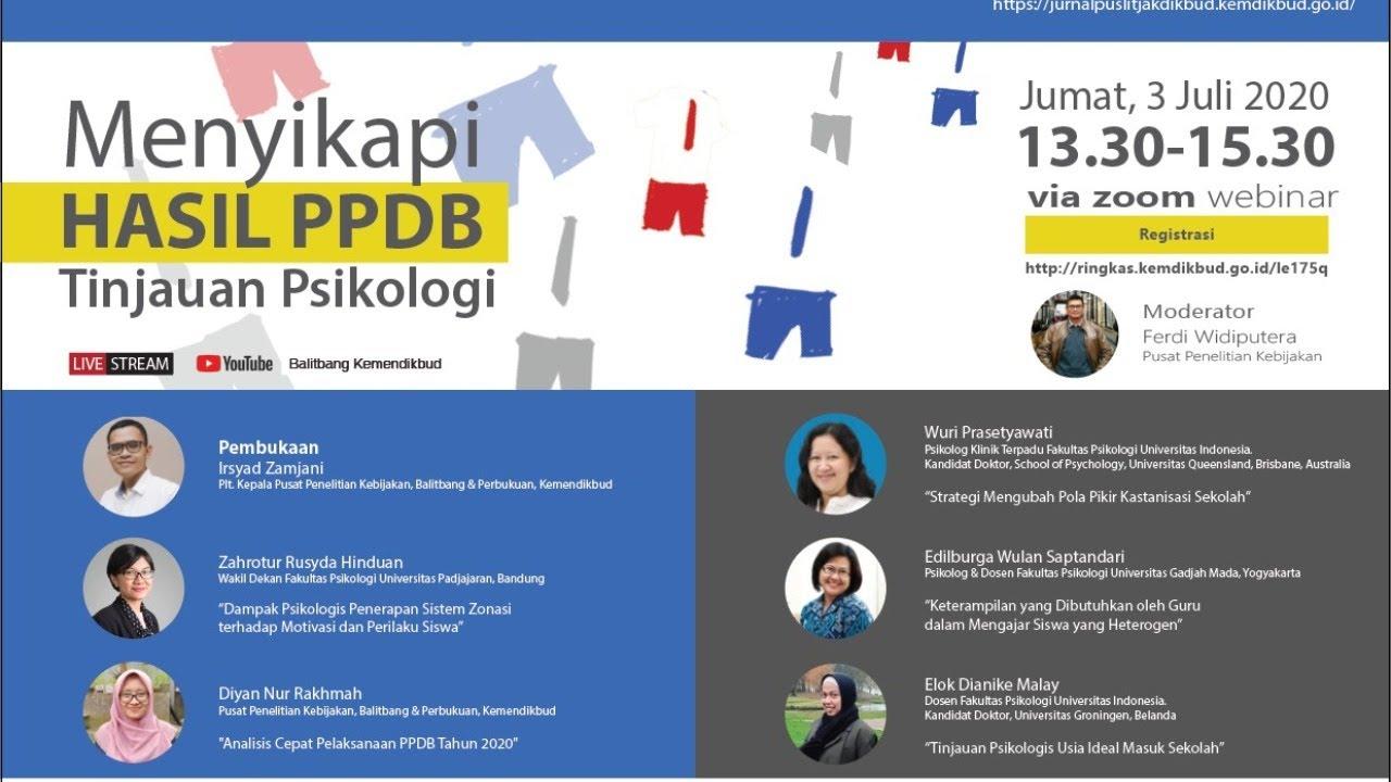 Diskusi Kebijakan Tematik -  Menyikapi Hasil PPDB: Tinjauan Psikologi