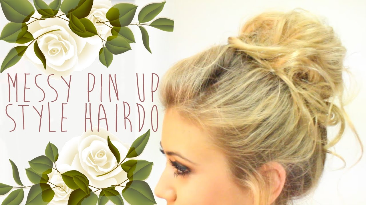 how to style hair up hair tutorial how to pin up style bun 8096