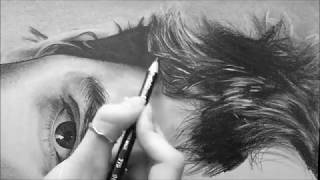 How to draw hair | Hyper-realistic pencil drawing | Hyperrealism time-lapse | Annalina Iacoviello