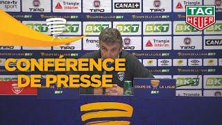 Conférence de presse Nîmes Olympique - AS Saint-Etienne( 1-1 4 tab à 2 )(1/16 de finale) / 2018-19