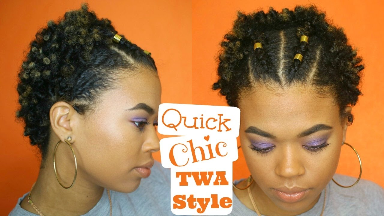 Quick Natural Hair Styles: Type 4 Natural Hair - YouTube