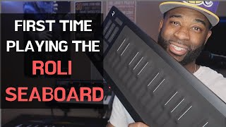 VERY FIRST TIME PLAYING THE ROLI SEABOARD!