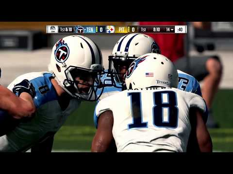 Madden NFL 18 Tennessee Titans @ Pittsburgh Steelers (full game)