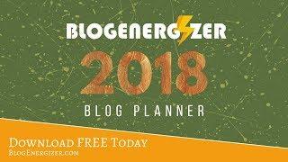 Printable Blog Planner 2018
