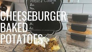 CheeseBurger Baked Potatoes   #CookingWithKayy (VLOG)