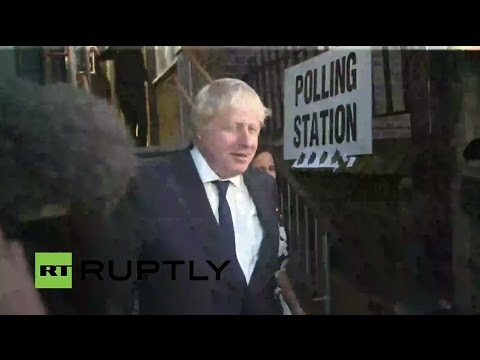 LIVE: Former London mayor Boris Johnson casts his vote for Brexit