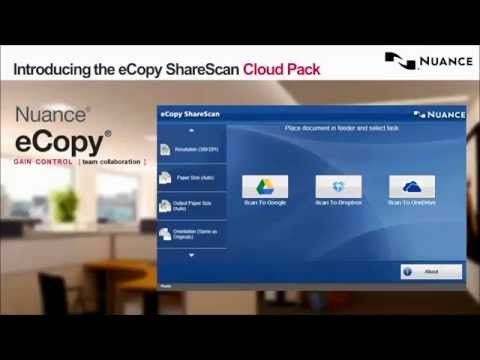 eCopy ShareScan Cloud Pack - Scan to Google Drive