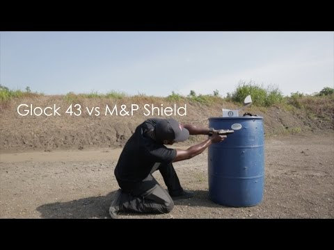 Glock 43 vs Smith and Wesson M&P Shield 9mm