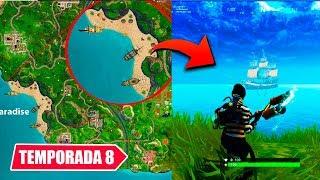 **TEMPORADA 8** NUEVO MAPA Y BARCOS! | FORTNITE (Teoria)