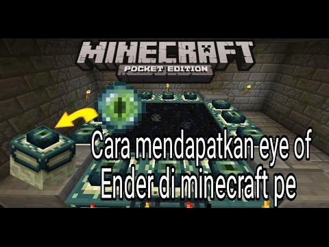 Cara mendapatkan block eye of ender di minecraft pe!!