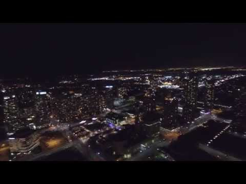 Mississauga  Downtown - Aerial View at night - Dji Inspire 1