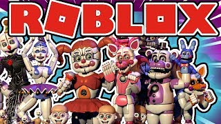 Doing The Voices Of FNAF Sister Location Animatronics in Roblox Circus Baby's Pizza World Roleplay